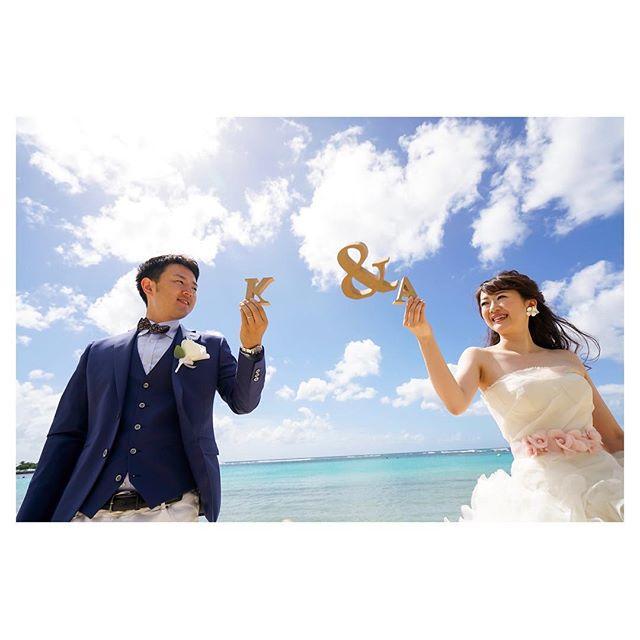 .雲ひとつない空も良いけど、雲の合間に広がる青空も素敵◡̈⋆*.Photo @mak_ishii @fotogenica_hawaii Produced by @la.chic.weddings