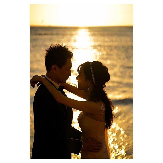.煌めくsunset...1年半前に担当させていただいた素敵なご夫婦。Happyな知らせ、とっても嬉しかったです⋆*