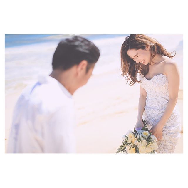 .I can be myself with you...️飾らない笑顔が美しい◡̈⋆*.Photo by @makoozaki Produced by @la.chic.weddings