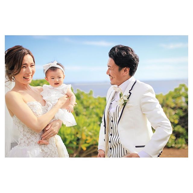 .ふたりの天使...️みんな良い笑顔◡̈︎#calvarybythesea ..Photo by @makoozaki Produced by @la.chic.weddings