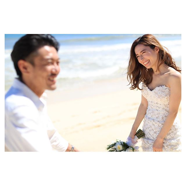 .シアワセ♡が伝わる眩しい笑顔◡̈︎.. @makoozaki  @hisami_hairmake Produced by@la.chic.weddings