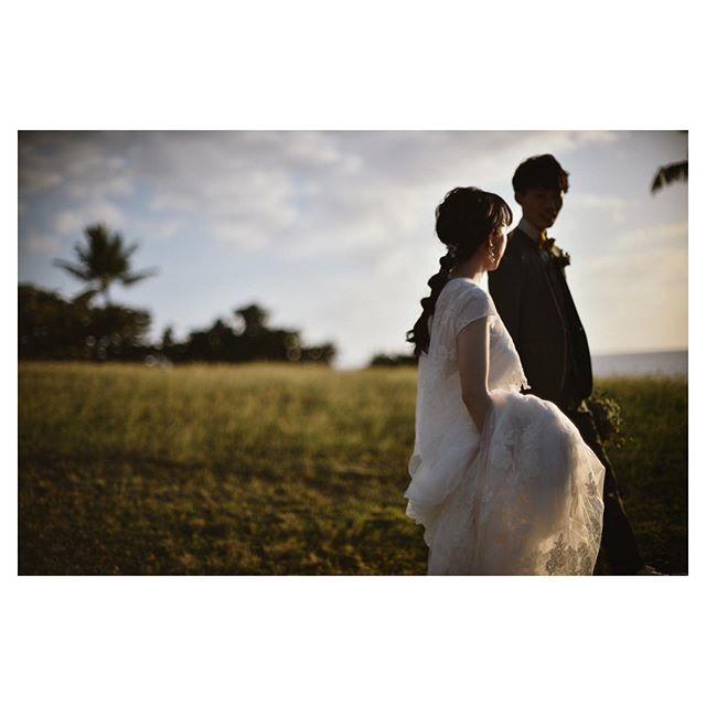 .サンセット少し前の景色も、何だか懐かしい感じがして好き..... @hideohba  @bilino_naoko Produced by @la.chic.weddings