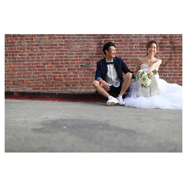 .Downtown Shooting@makoozaki .Produced by @la.chic.weddings