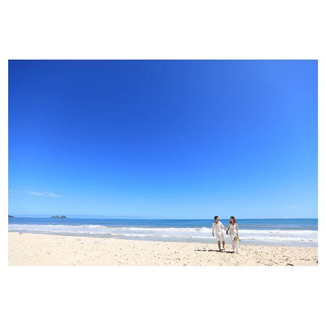 .この空と海を見れば誰だって晴れやかなきもちになる︎Waimanalo Blue最高︎